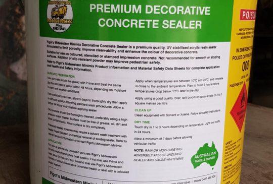 Premium Decorative Concrete Sealer